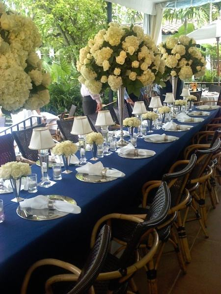 Royal Blue And Gold Table Decorations Photograph | Fashionab